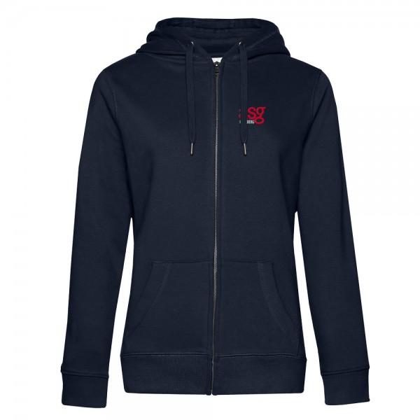 Damen Kapuzen-Sweatjacke QUEEN Zipped Hood